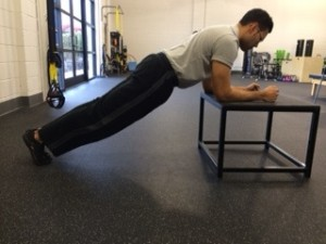 plank on incline