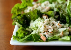 Shrimp and Cucumber Lettuce Wraps
