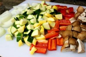 campfire roasted vegetables