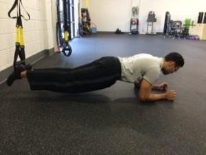 Plank on TRX